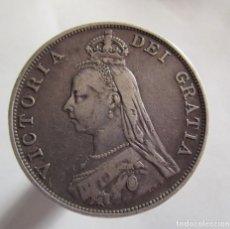 Monedas de España: REINO UNIDO . DOBLE FLORIN DE PLATA DE 1889 . REINA VICTORIA . CALIDAD FANTASTICA. Lote 195460282