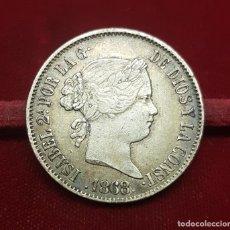 Monedas de España: ESPAÑA 50 CÉNTIMOS DE PESO - ISABEL II 1868 MANILA KM 147 PLATA. Lote 195466938