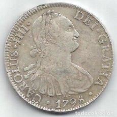 Monedas de España: 8 REALES 1797 MÉJICO FM - CARLOS IIII - PLATA - MÓDULO GRANDE.. Lote 195470345