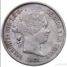 Monedas de España: SPAIN KM#682.2 ISABEL II 40 CENTIMOS ESCUDO 1868 (68) PLATA SILVER ORIGINAL VER R10127. Lote 195476030