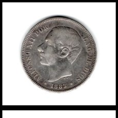 Monedas de España: ESPAÑA, ALFONSO XII, 5 PESETAS 1885 18*87 MS-M (PLATA) MBC. Lote 195498130