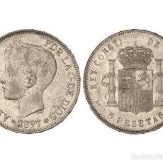 Monedas de España: 5 PESETAS. 1897 (*18-97). SG-V. SC- SIN CIRCULAR-. Lote 195513232