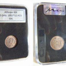 Monedas de España: MONEDA DE ALFONSO XIII 2 CENTIMOS 1912 *12 PCV SIN EBC EN CAPSULA CERTIFICADA. Lote 195525737