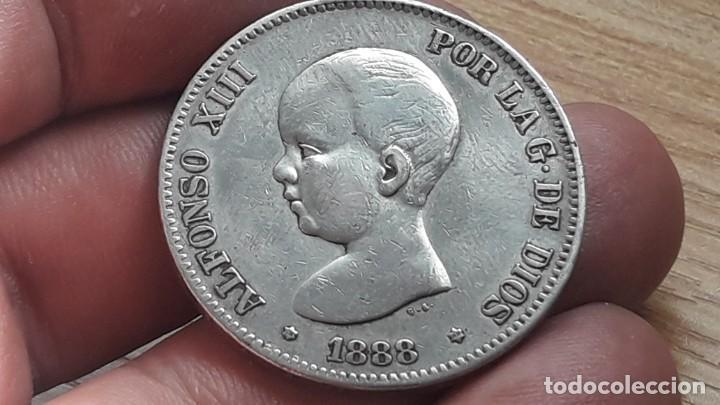 DURO DE ALFONSO XIII 1888 *88 (Numismática - España Modernas y Contemporáneas - De Isabel II (1.834) a Alfonso XIII (1.931))