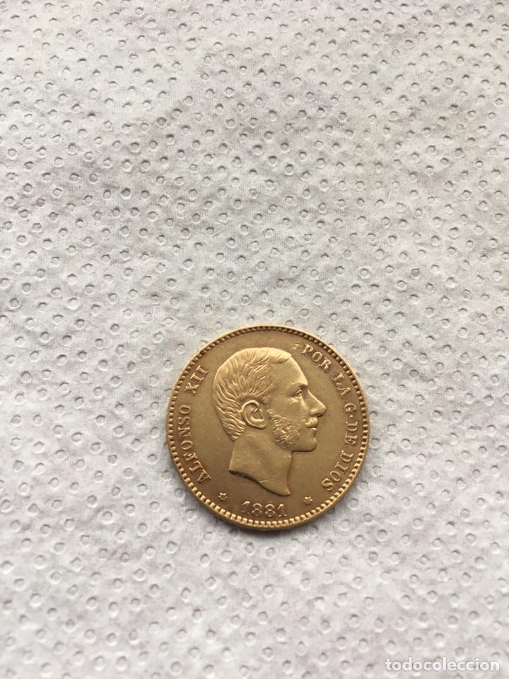 25 PESETAS ALFONSO XII AÑO 1881 *18 -*81 ORO. (Numismática - España Modernas y Contemporáneas - De Isabel II (1.834) a Alfonso XIII (1.931))