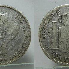 Monete da Spagna: MONEDA DE ALFONSO XIII 1 PESETA 1899 PLATA. Lote 195668101