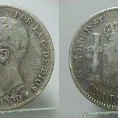 Monedas de España: MONEDA DE ALFONSO XIII 1 PESETA 1899 PLATA. Lote 195669322