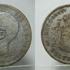 Monete da Spagna: MONEDA DE ALFONSO XIII 1 PESETA 1900 PLATA. Lote 195669813