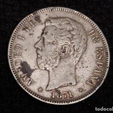 Monedas de España: 5 PESETAS 1871 18*74* AMADEO I. Lote 195908542