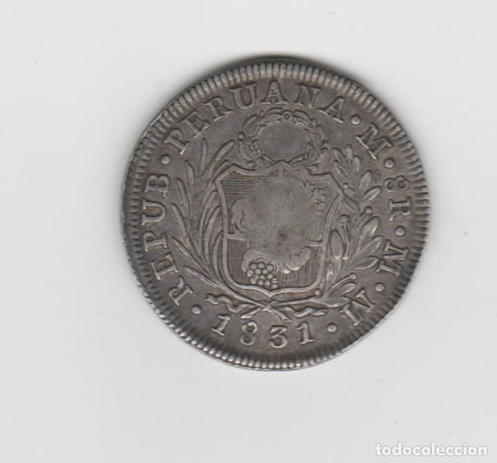 Monedas de España: FERNANDO VII- 8 REALES-1831-ACUÑADA SOBRE MONEDA DE PERU - Foto 2 - 195908627