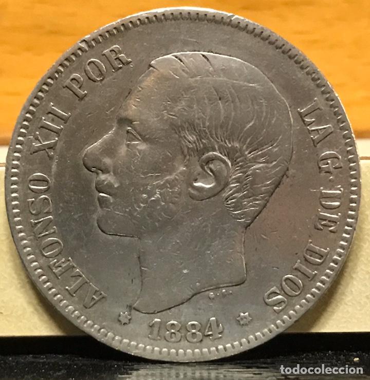 MONEDA 5 PESETAS 1884 DE PLATA (Numismática - España Modernas y Contemporáneas - De Isabel II (1.834) a Alfonso XIII (1.931))