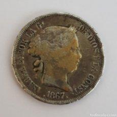 Monedas de España: ISABEL II. 40 CENTIMOS. DE ESCUDO. MADRID 1867. Lote 196271230