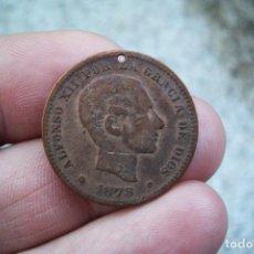 Monedas de España: 5 CENTIMOS 1878 DIBUJO ESCUDETE DE BARCELONA TÍPICO GUERRA CIVIL. Lote 196294173