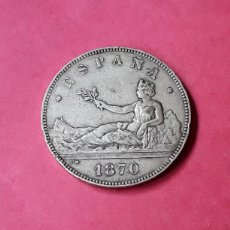 Monedas de España: GOBIERNO PROVISIONAL.5 PESETAS.1870 (18-70) . Lote 196297250