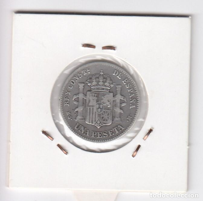Monedas de España: Fecha escasa 1 peseta (plata) alfonso xii 1883 (*18-83) madrid msm - mbc - Foto 2 - 196334495