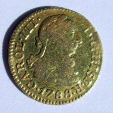 Monedas de España: CARLOS III- 1/2 ESCUDO -1788 M- N --ORO. Lote 197206151