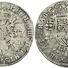 Monedas de España: PATAGÓN. 1637. AMBERES. VANHOUDT-645.AN. EBC-. Lote 197208625
