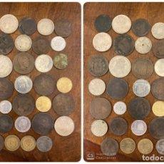 Monedas de España: LOTE DE 34 MONEDAS DE ESPAÑA. DESDE EL AÑO 1781 AL 1984. VER FOTOS.. Lote 197290463