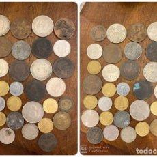 Monedas de España: LOTE DE 35 MONEDAS ESPAÑA. DESDE EL AÑO 1779 AL 1984. VER FOTOS Y LEER.. Lote 197292411