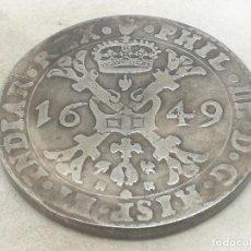 Moedas de Espanha: RÉPLICA MONEDA 1649. 1 PATAGÓN. ESPAÑA. REY FELIPE IV, PAÍSES BAJOS, FLANDES. Lote 197930208