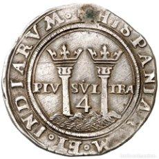 Monedas de España: 4 REALES DE JUANA Y CARLOS - S/F - MÉXICO - 13,71G AG - CON CERTIFICADO DE AUTENTICIDAD. Lote 198112495