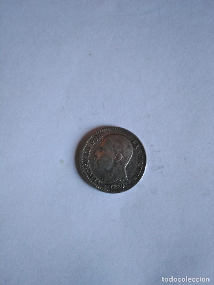 MONEDA ALFONSO XII, 50 CÉNTIMOS 1880 *80, PLATA (Numismática - España Modernas y Contemporáneas - De Isabel II (1.834) a Alfonso XIII (1.931))