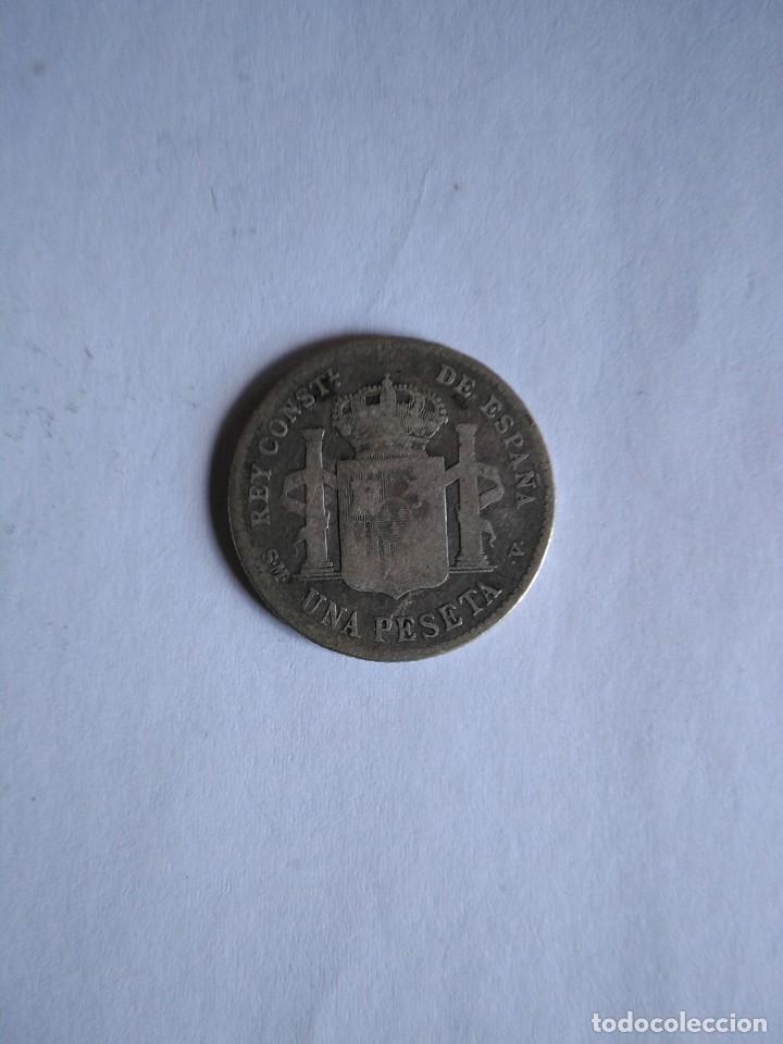 Monedas de España: Moneda Alfonso xii,1903 SM v, 1 peseta, plata - Foto 2 - 198413895