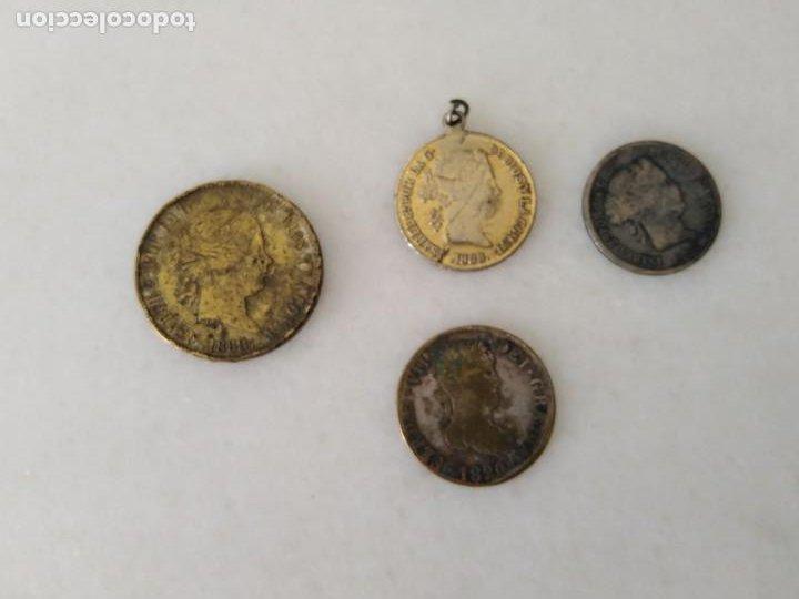 LOTE ANTIGUA MONEDA FALSA ÉPOCA ISABEL II Y FERNANDO VII. (Numismática - España Modernas y Contemporáneas - De Isabel II (1.834) a Alfonso XIII (1.931))