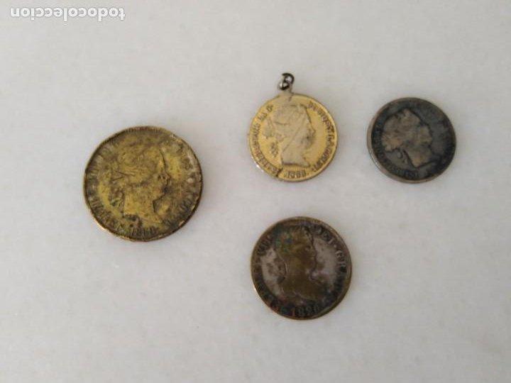 Monedas de España: LOTE ANTIGUA MONEDA FALSA ÉPOCA ISABEL II Y FERNANDO VII. - Foto 2 - 198418268