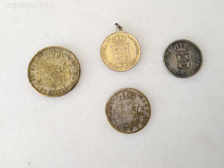 Monedas de España: LOTE ANTIGUA MONEDA FALSA ÉPOCA ISABEL II Y FERNANDO VII. - Foto 3 - 198418268