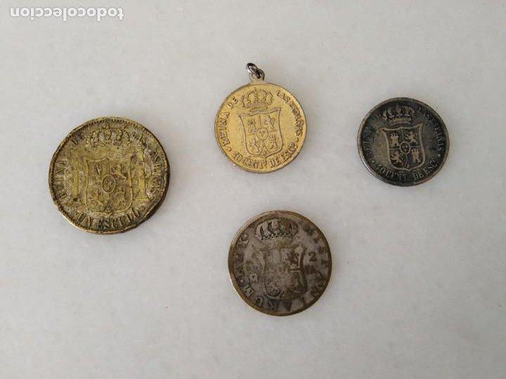 Monedas de España: LOTE ANTIGUA MONEDA FALSA ÉPOCA ISABEL II Y FERNANDO VII. - Foto 4 - 198418268