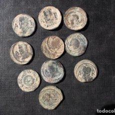 Monedas de España: CONJUNTO DE 10 ARDITES 1640 EN MUY BUEN ESTADO VER FOTOS . Lote 198482590