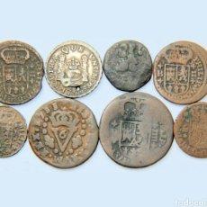 Monedas de España: ESPECTACULAR LOTE DE 8 MONEDAS DE FELIPE V (1) PLATA. Lote 198568128