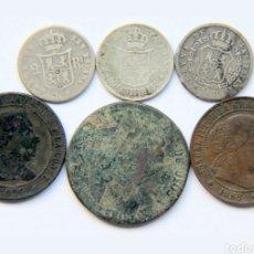 Monedas de España: LOTE DE ISABEL II, 3 DE PLATA. Lote 198568278