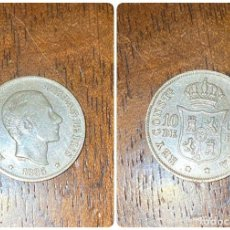 Monedas de España: MONEDA. ALFONSO XII. 10 CENTAVOS DE PESO. MANILA. 1885. VER FOTOS. Lote 277645758
