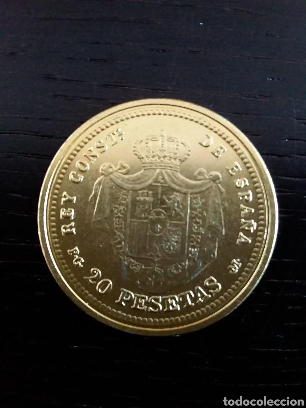 Monedas de España: Moneda 5 pesetas Alfonso XIII 1892. Reproducción - Foto 2 - 198812272