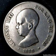 Monedas de España: NQ 116. 5 PESETAS 1888 *--*-- MPM. Lote 198953422