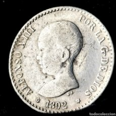 Monedas de España: NQ 117. 50 CÉNTIMOS 1892 *9*2 PGM. Lote 198953486