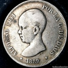 Monedas de España: NQ 118. 5 PESETAS 1889 *-- *89 MPM. Lote 198953532