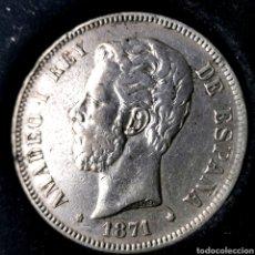 Monedas de España: NQ 119. 5 PESETAS 1871 *18*71 SDM. Lote 198953597