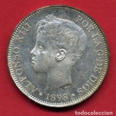 Monedas de España: MONEDA 5 PESETAS ALFONSO XIII DURO DE PLATA 1898 EBC+ BRILLO ESTRELLAS VISIBLES 18 98 ORIGINAL D2758. Lote 199105588