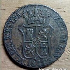 Monedas de España: 6 CUARTOS ISABEL II 1841. Lote 199191958