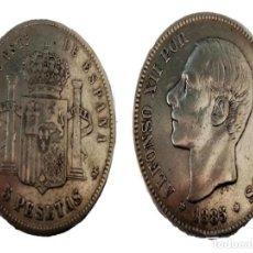Monedas de España: MONEDA 5 PTS PLATA ALFONSO XII 1885 (87). Lote 199216786