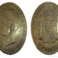 Monedas de España: MONEDA 5 PTS PLATA ALFONSO XIII 1896 (96). Lote 199227050