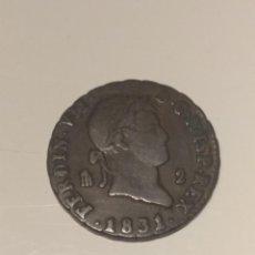 Monedas de España: 2 MARAVEDÍS FERNANDO VII 1831. Lote 199244937