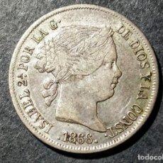 Monedas de España: 40 CÉNTIMOS DE ESCUDO - ISABEL II 1866 MBC. Lote 199399193