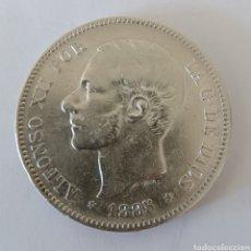 Monedas de España: 5 PESETAS PLATA 1885 ALFONSO XLL. Lote 199697256