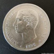Monedas de España: 5 PESETAS PLATA 1875 ALFONSO XLL. Lote 199697971