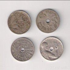 Monedas de España: LOTE DE LAS 4 MONEDAS DE 25 CÉNTIMOS DE ESPAÑA 1925, 1927, 1934 Y 1937.. Lote 199703051