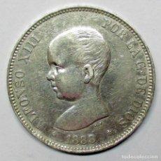 Monedas de España: ALFONSO XIII, 5 PESETAS DE PLATA 1888 * 18 - 88. M.P.M. DURO DE PLATA. LOTE 2533. Lote 199703916